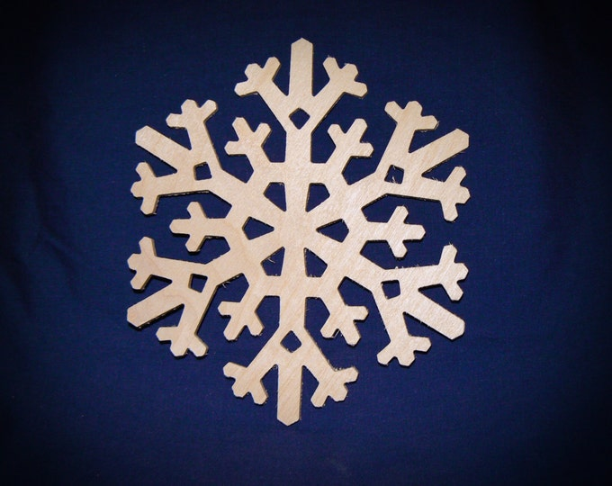 "6"" Wood Snowflake Cutout - Wooden Snowflake Shapes"