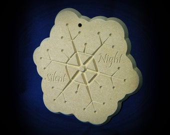 Silent Night Snowflake Ornaments - MDF