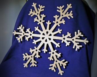 """12"""" Wood Snowflake Cutout - Wooden Snowflake Shapes"""