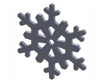 """4"""" Snowflake - DXF And STL Files - Vector Graphics And Model For CNC Router, Laser Engraver, 3D Printer, Or Plasma Cutter"""