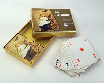 Vintage Playing Cards Piatnik Austria Bridge 2 Decks Victorian Romantic Style