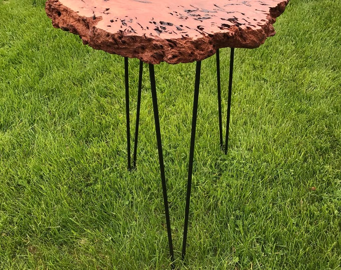 River red gum burl side table