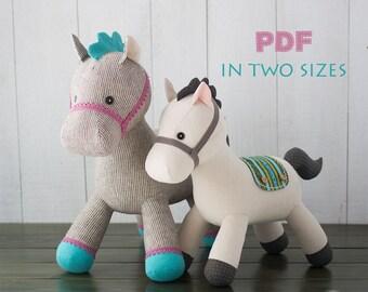 Stuffed animal - Pony PDF Sewing Pattern   Tutorial  8490516069