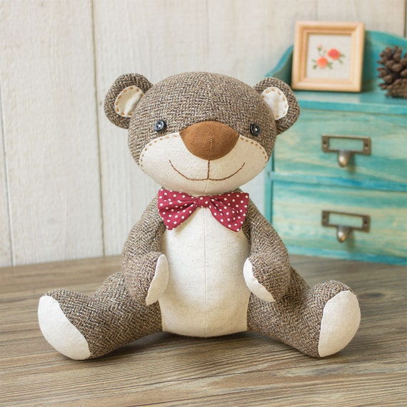 Stuffed animal  Nosey Teddy Bear Sewing patterns & Tutorials