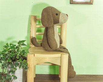 Stuffed Puppy Dog - PDF sewing pattern & tutorial / stuffed animal / softie / toy / DIY pattern