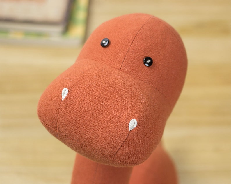 Stuffed dinosaur PDF Sewing Pattern & Tutorial Homemade image 4