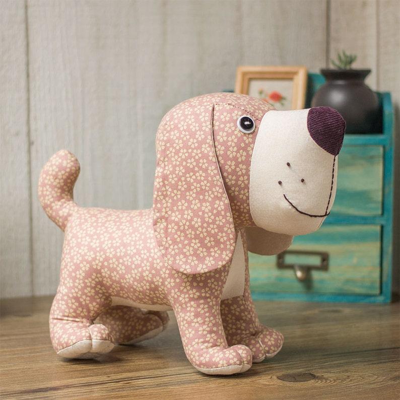 Stuffed animal  Standing Puppy Dog  PDF Sewing patterns & image 0