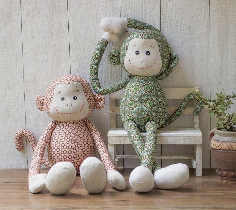 Printable Stuffed Monkey Sewing Pattern | DIY Monkey Plush Pattern | Easy Beginner Sewing Patterns