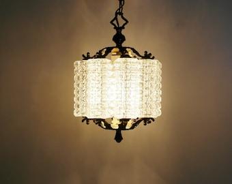 1940s chandelier etsy extremely rare vintage crystal chandelierorreforslight fixtureretromid centuryart decospain1940s 1960sglassceilingbrassgold aloadofball Image collections