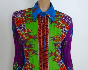 Colorful ANTOINE EREVAN pleated shirt size M