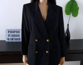 Vintage black FEDORA jacket size 38/40 - uk - 10/12 us 6/8