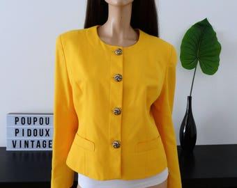 Yellow vintage VERDOSA jacket size 40 - uk 12 - us 8