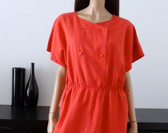 coral pink WEILL dress double breasted size 44 - uk 16 - us 12