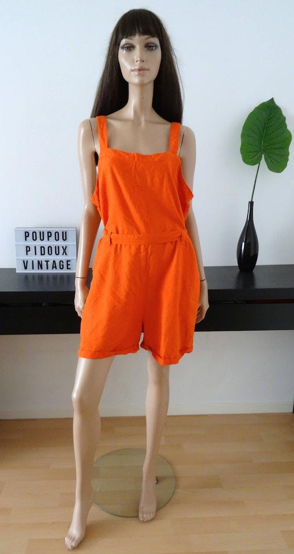 15d292e421 DOROTHY PERKINS orange jumpsuit Playsuit size 44 uk 16 us
