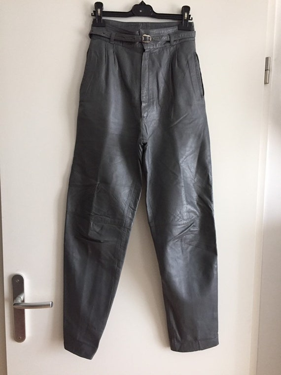 wholesale outlet united states buy cheap Vintage trousers in grey leather size 34/36 - uk 4/6 - us 2/4