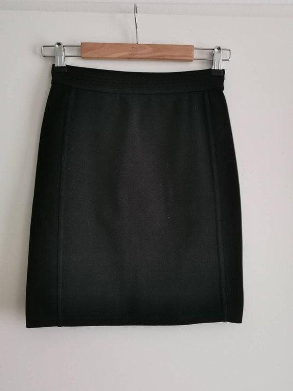 APC Skirt Navy Blue Jean Denim Front Pockets Front Pockets Size 40 L