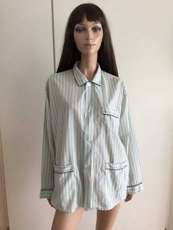 Vintage men's pyjama jacket stripes
