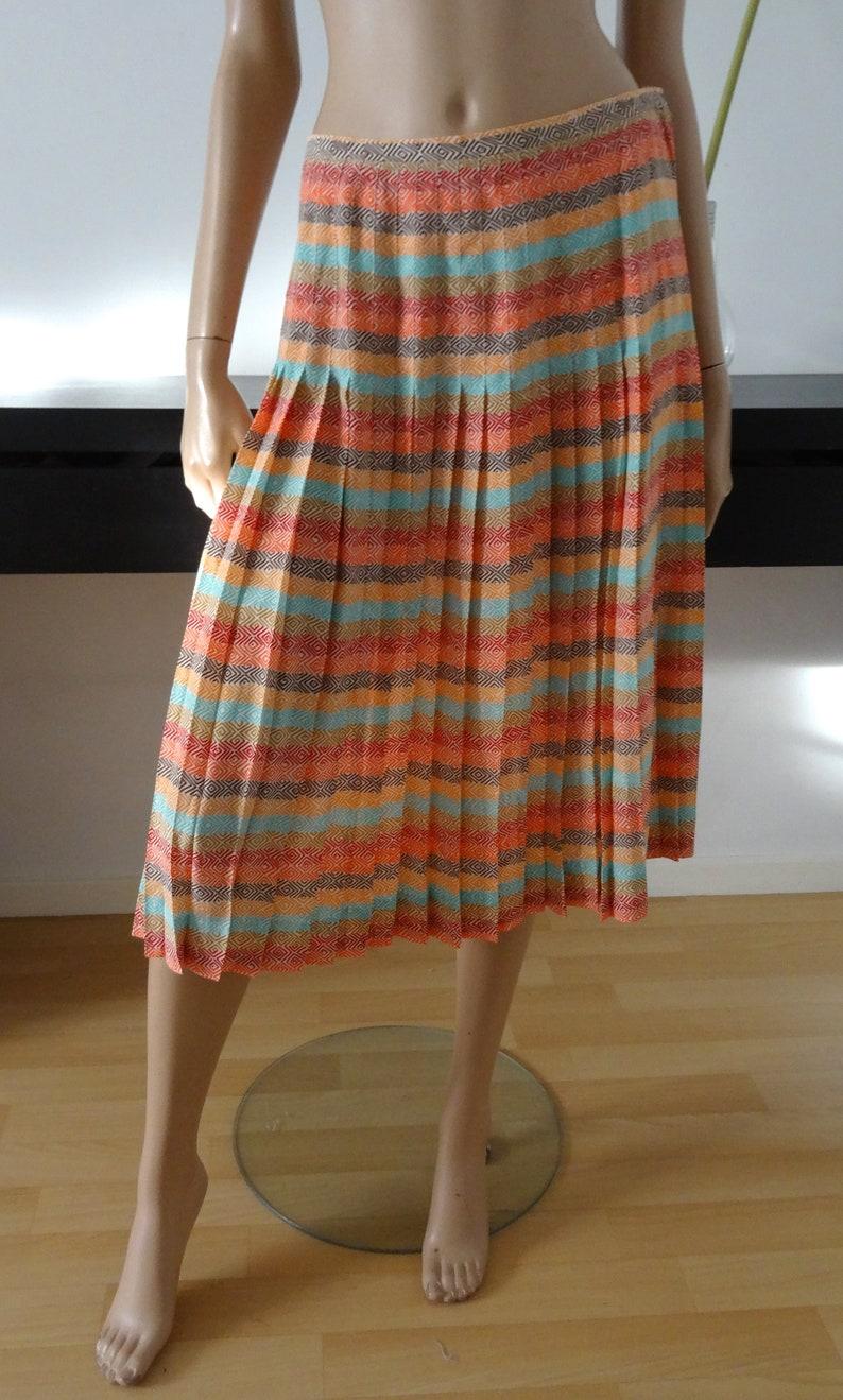 bc7bd3a136a3 Pleated vintage GUY LAROCHE silk skirt size 10/12 38/40 uk | Etsy
