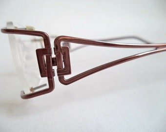3169d0d749 Boucheron BOU 73 New Womens Gold Titanium Rimless Eyeglasses