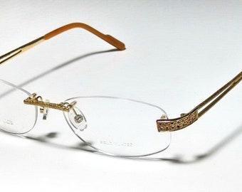 52192c1ff4 Boucheron New Gold Rhinestone Rimless Titanium Womens Eyeglasses