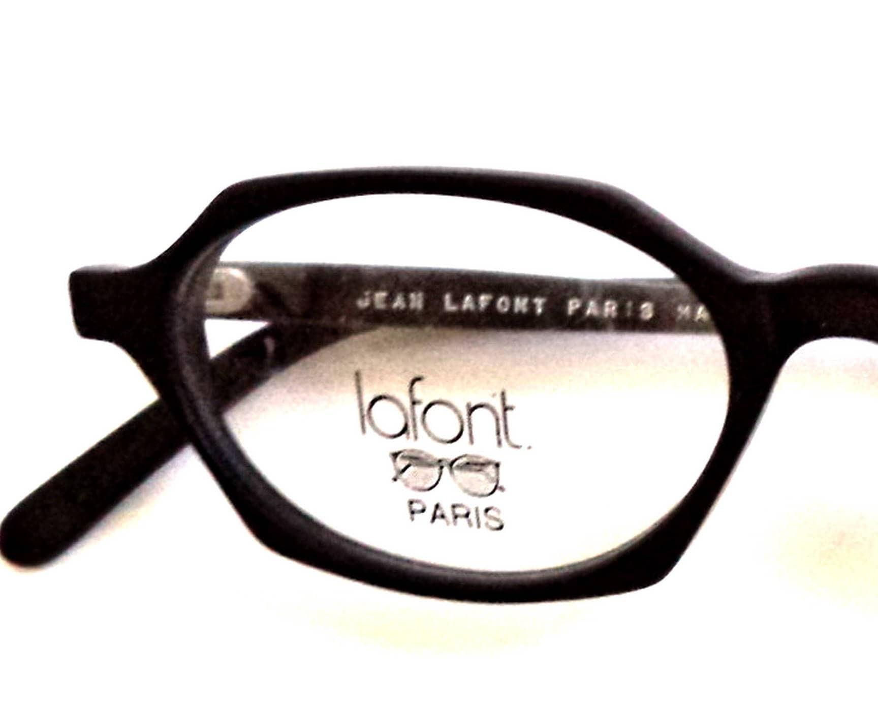 LAFONT schwarz sechseckigen Chunky Horn umrandeten Brille | Etsy