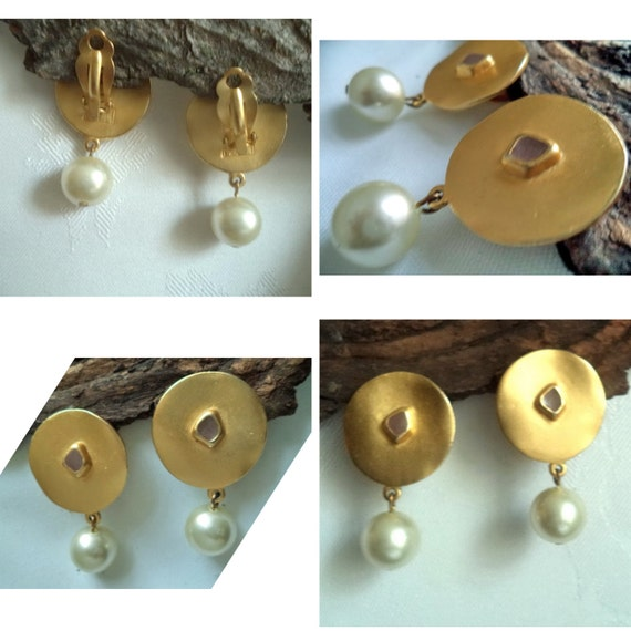 Biche de Bere Earrings Large Statement Gold fille… - image 7