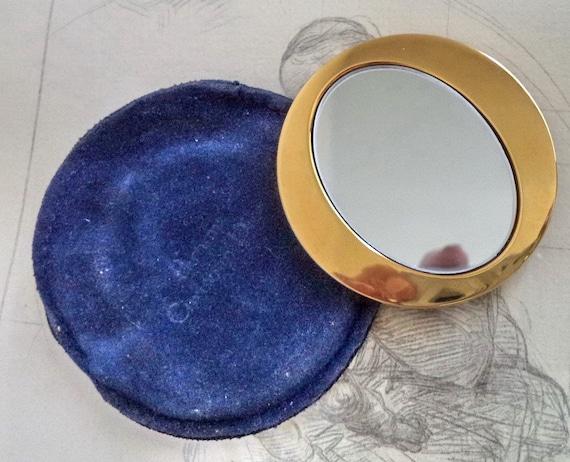 Vintage Spiegel Goud : Dior cd gouden gp vintage portemonnee spiegel dior s goud etsy