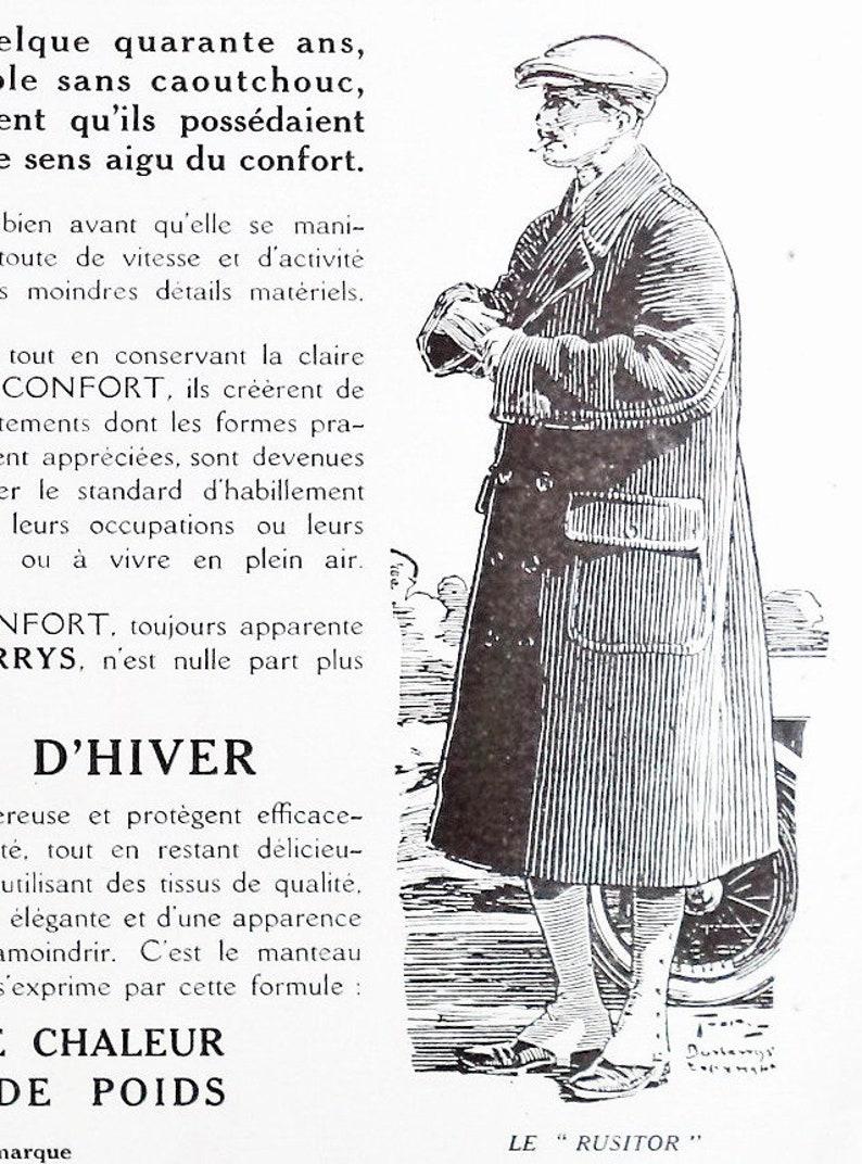 b2fb1f95cef Antique Burberry s Coat Advertisement print Ad 1930