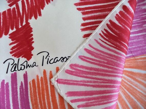 Paloma Picasso Love Kisses Silk Scarf, Big Paloma