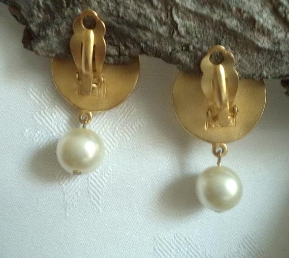 Biche de Bere Earrings Large Statement Gold fille… - image 9