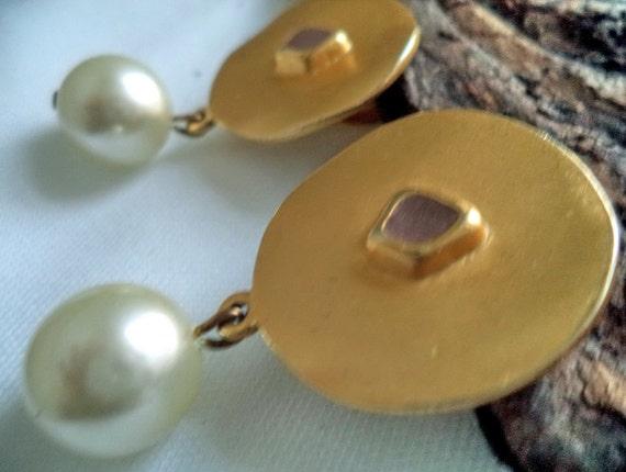 Biche de Bere Earrings Large Statement Gold fille… - image 6