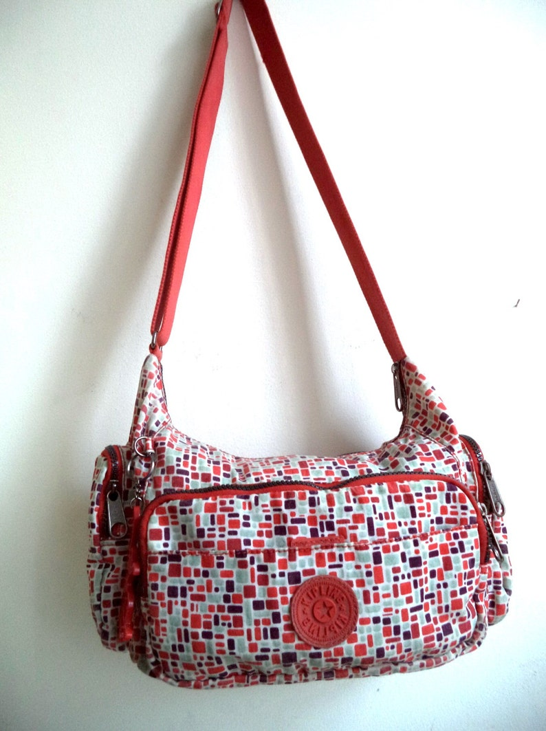 36598b54b1e KIPLING Jeel Bag Monkey Keychain Charm Travel Nylon Multi | Etsy