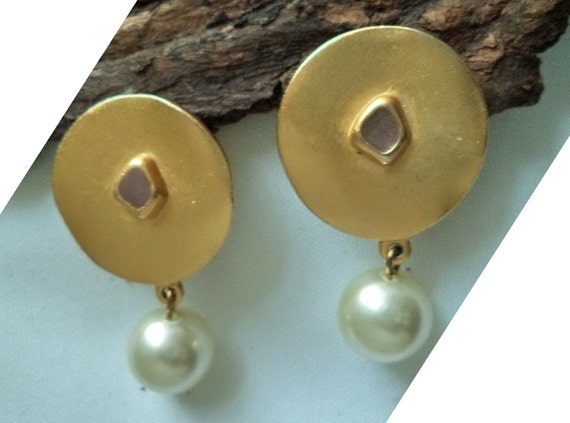 Biche de Bere Earrings Large Statement Gold fille… - image 2