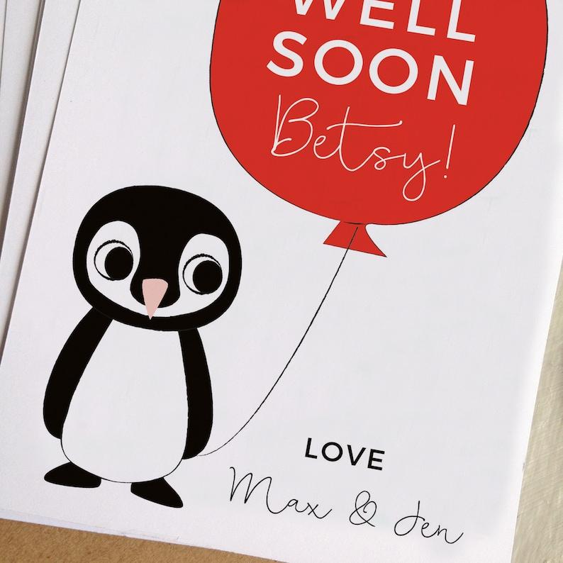 Get Well Soon Personalised Card