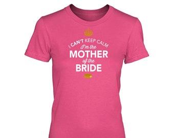 Mother of Bride Gift Shirt Tshirt Tee Women's Crew neck Funny Marriage Engagement Shirt Wedding Gift Keepsake Present Idea
