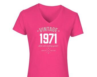 50th Birthday Tshirt for Women Gift Idea Vintage T Shirt Keepsake Present for 50 year old