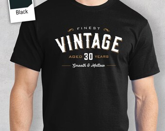 30th Birthday Idea Present For Him Gift Vintage Whisky 1987 Shirt 30 Year Old