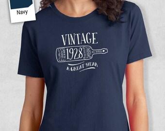 90th Birthday, 90th Birthday Idea, Great 90th Birthday Present, 90th Birthday Gift. 1928 Birthday, 90th Birthday Shirt, Women's Crew Neck!