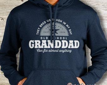 Granddad Gift, Old School Granddad Shirt, Personalized Granddad Gift. Birthday Gift For Granddad! Granddad Gift, Granddad Hoodie!
