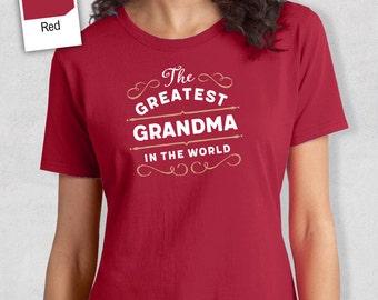 Greatest Grandma, Grandma Gift, Grandma T-shirt, World's Greatest Grandma Shirt, Gift For Grandma, Grandma T-Shirt