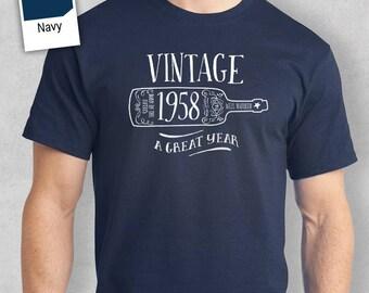60th Birthday, 1958 Birthday, 60th Birthday Idea, Great 60th Birthday Present, 60th Birthday Gift. 60th Birthday Shirt For an 60 Year Old!