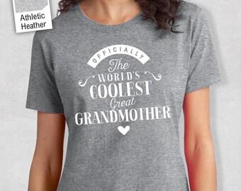 Cool GrtGrandmoter, GrtGrandmother Gift, GrtGrandmother T-shirt, World's Coolest GrtGrandmother Shirt, GrtGrandmother, GrtGrandmother Tee