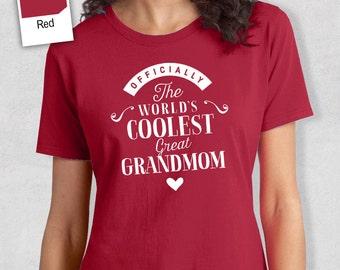Cool GrtGrandmom, GrtGrandmom Gift, GreatGrandmom T-shirt, World's Coolest GreatGrandmom Shirt, GreatGrandmom, GreatGrandmom T-Shirt