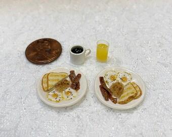 1:12 Scale Miniature Breakfast Set