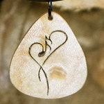 Maple music pendant with heart. Handmade with note! Jewelry for the sake of love. Handcrafted. No laser!