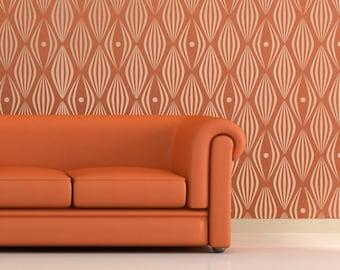 RETRO BALLOONS (spots) Allover Wallpaper Stencil / Reusable Stencils / DIY / Home Decor / Interiors / Feature Wall / Wallpaper alternative