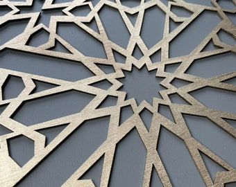 FEZ  wooden inlay only panel for furniture. Moroccan stencil alternative. Self Adhesive panel. Create Moroccan furniture. W144