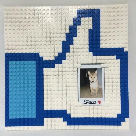 Facebook «Like» brique photo cadre puzzle coffret taille 26 x 26 cm