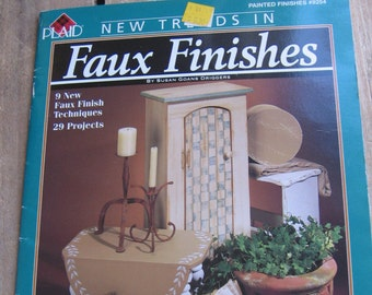 New Trends in Faux Finishes / Craft Projects Leaflet / Plaid Leaflet / DIY How-To / Painted Finishes / Furniture Finishes / Wood Projects