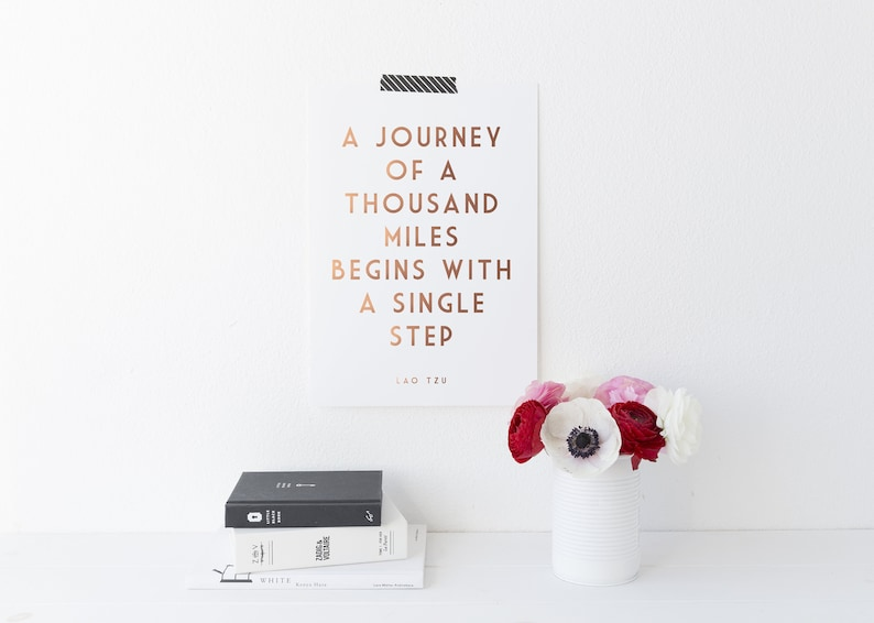 A Journey Of A Thousand Miles Begins With A Single Step  image 0